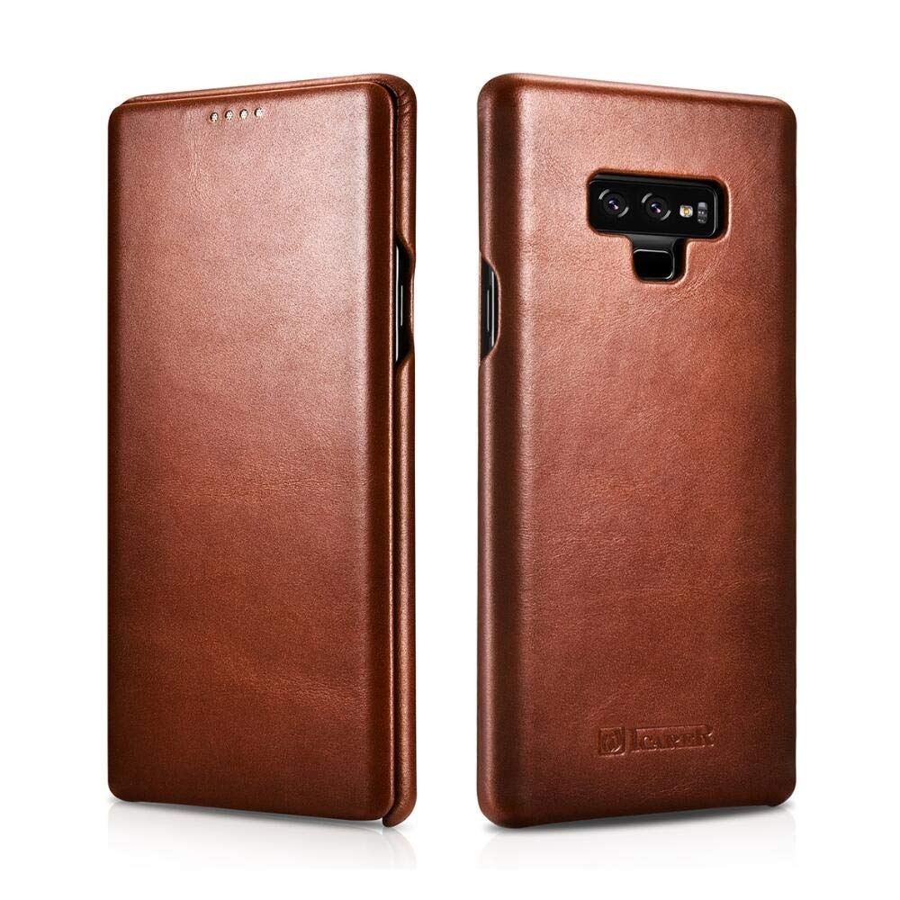 iCarer Vintage Series Side-Open Δερμάτινη Θήκη Samsung Galaxy Note 9 - Brown (13927)