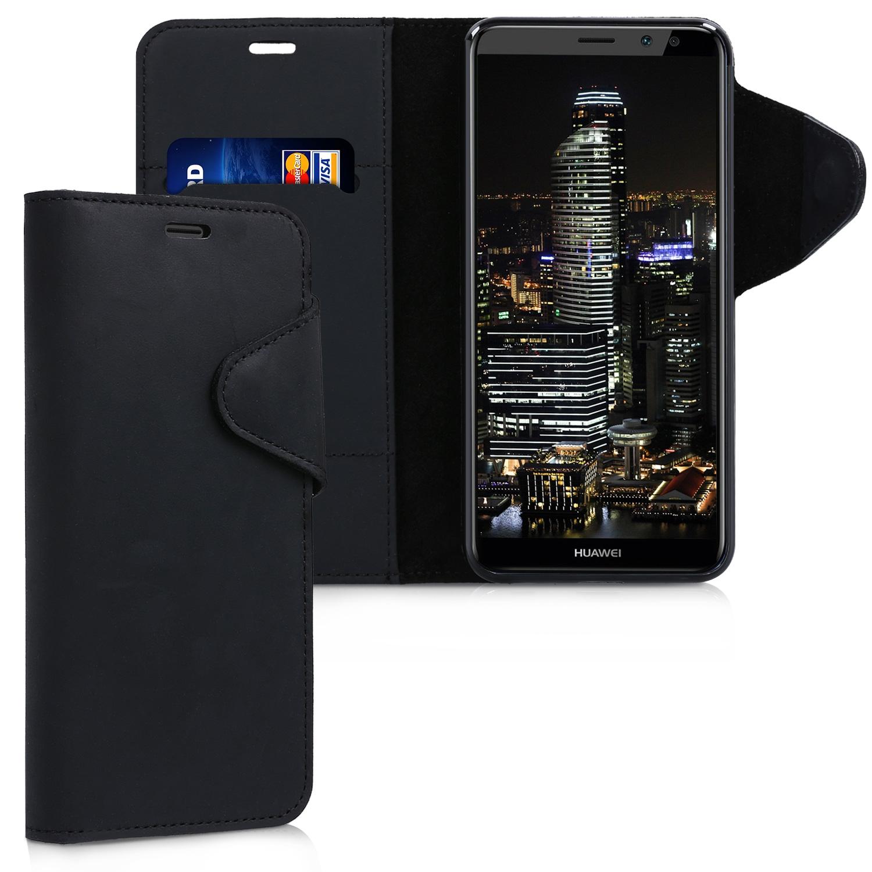 Kalibri Δερμάτινη Θήκη - Πορτοφόλι Huawei Mate 10 Lite - Black (44011.01)