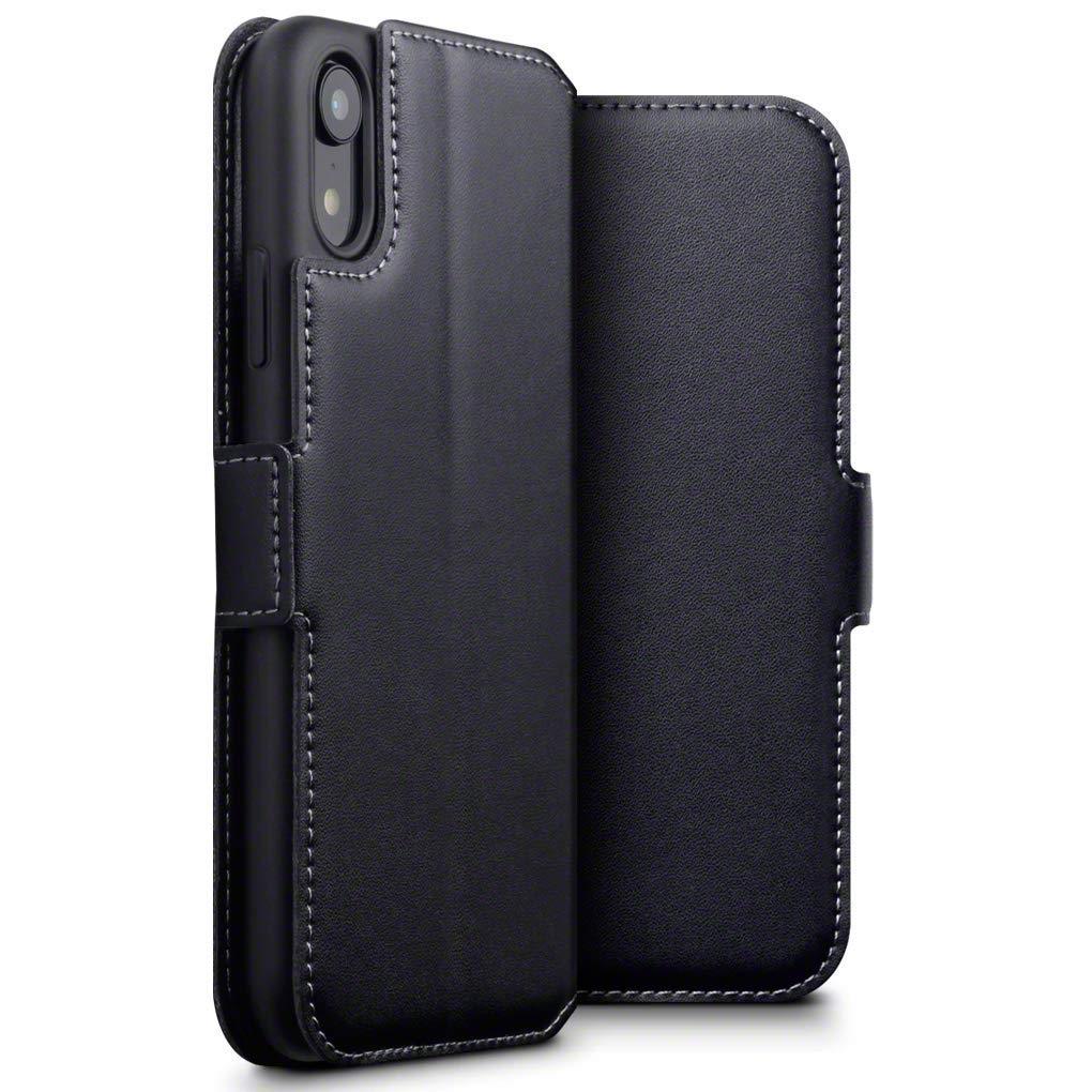Terrapin Low Profile Δερμάτινη Θήκη - Πορτοφόλι iPhone XR - Black (117-127-001)