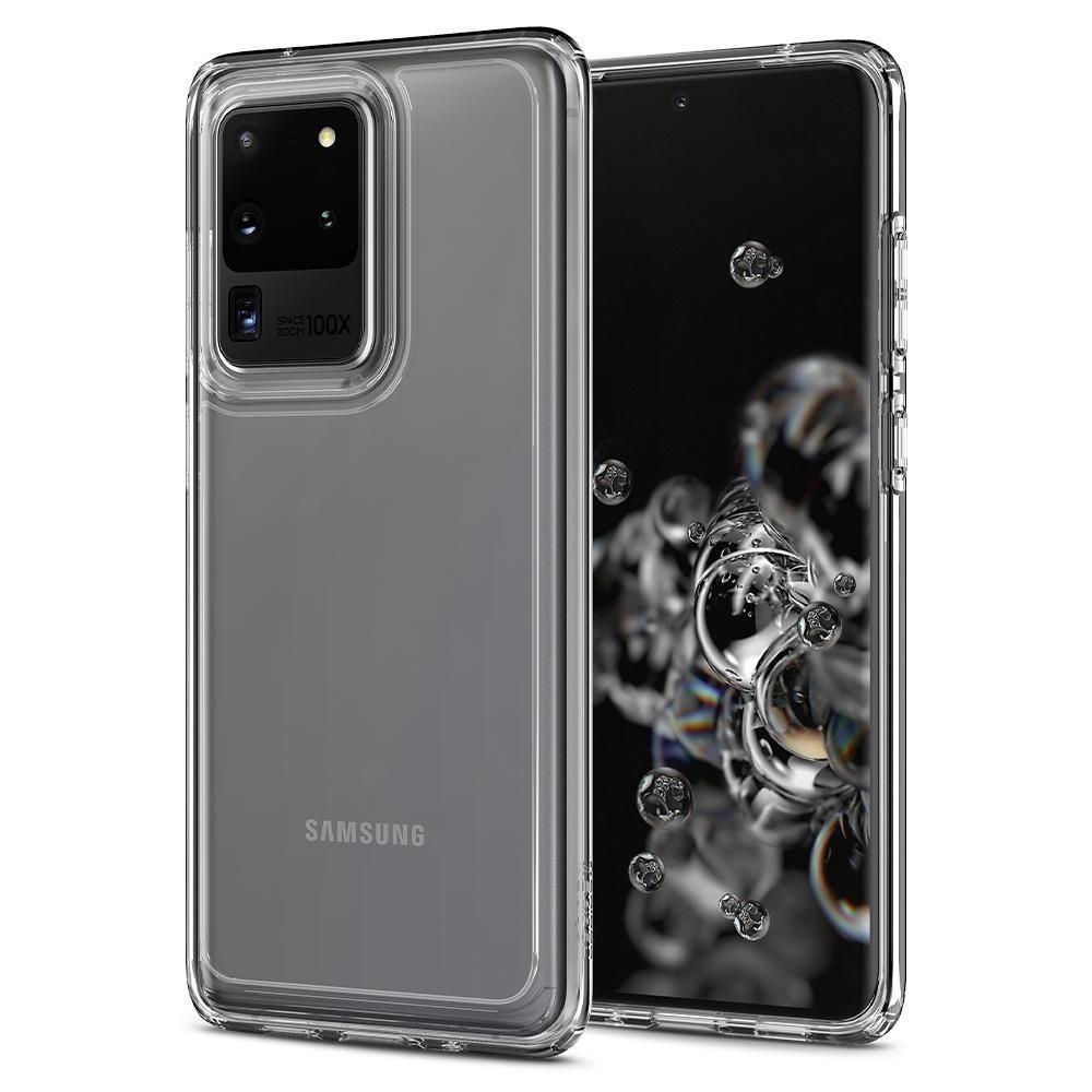 Spigen Θήκη Ultra Hybrid Samsung Galaxy S20 Ultra - Crystal Clear (ACS00713)