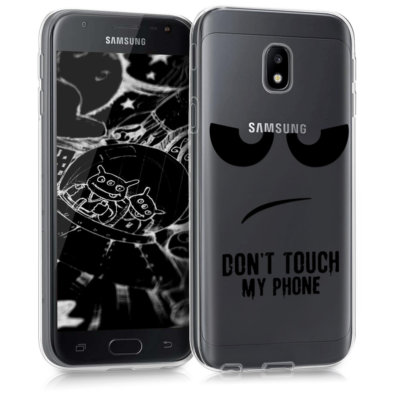 KW Διάφανη Θήκη Σιλικόνης Samsung Galaxy J3 2017 - Don't Touch My Phone (41026.02 )