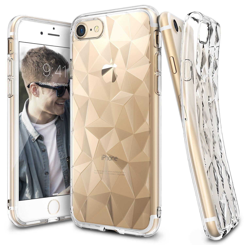 Ringke (Air) Διάφανη Θήκη Σιλικόνης iPhone 8 / 7 με Ανάγλυφο Σχέδιο (RAPS-IP7-CL)