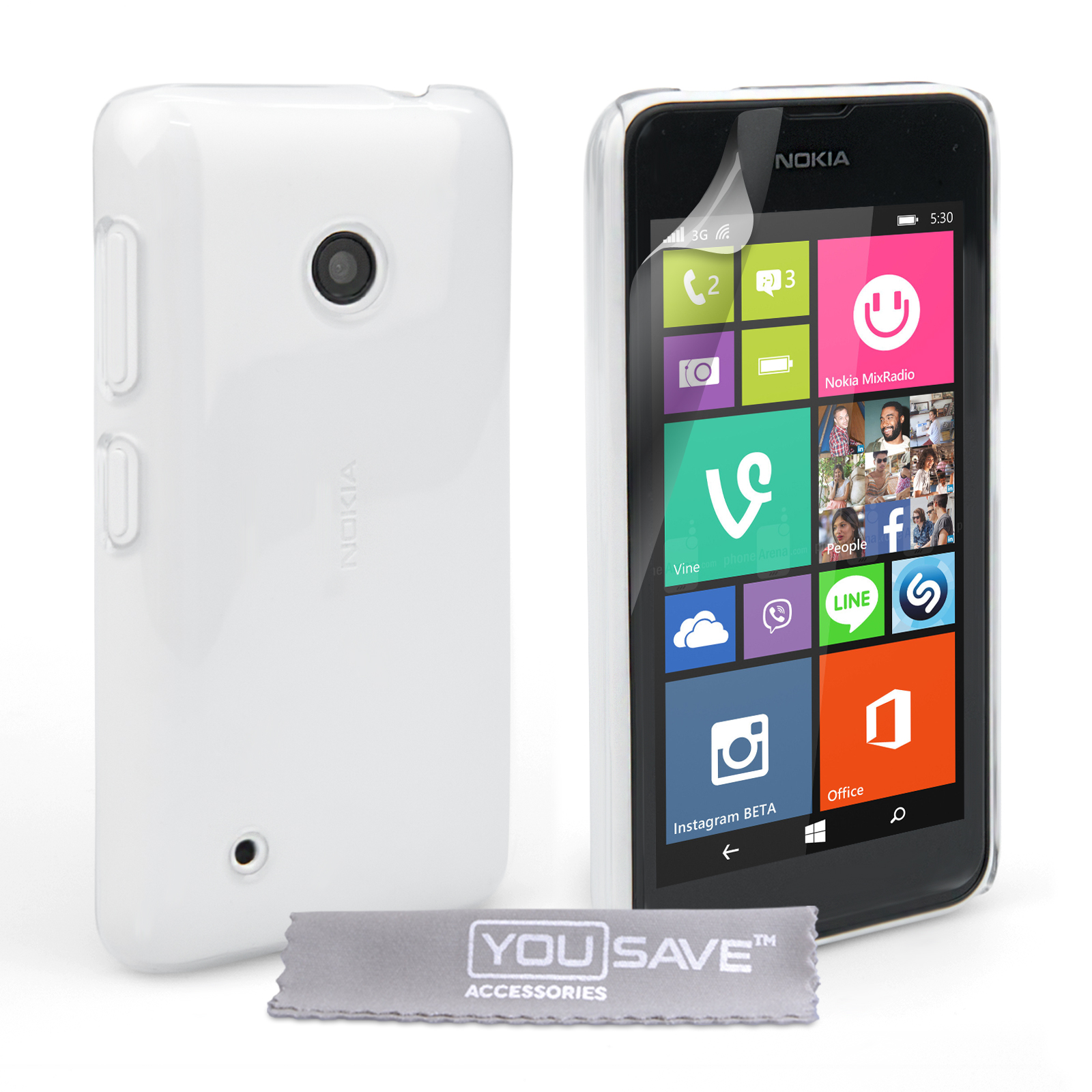 Διάφανη Θήκη Nokia Lumia 530 by YouSave (Z716)