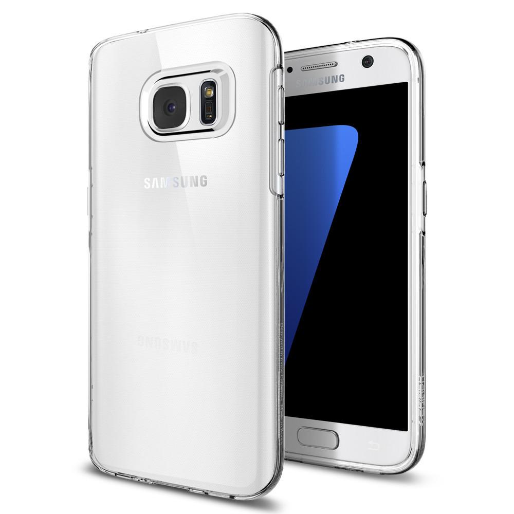 Spigen Θήκη TPU Liquid Crystal Samsung Galaxy S7 - Clear (555CS20006)