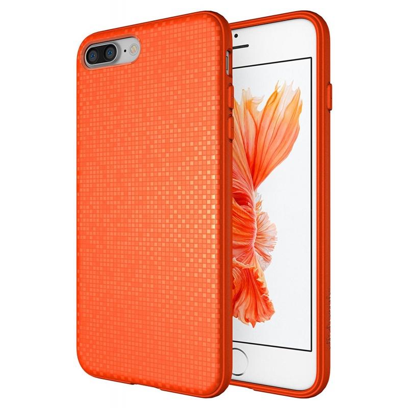 Diztronic Θήκη με Pixels Σιλικόνης iPhone 8 Plus / iPhone 7 Plus - Orange (IP7P-PIX-ORNG)