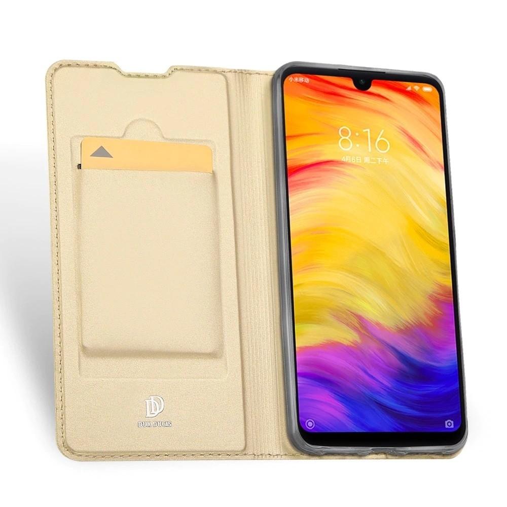Duxducis Skin Pro Θήκη - Πορτοφόλι Xiaomi Redmi Note 7 - Gold (47742)