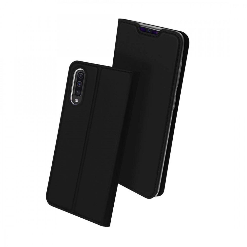 Duxducis Skin Θήκη Πορτοφόλι Samsung Galaxy A70 - Pure Black (DDS260BLK)