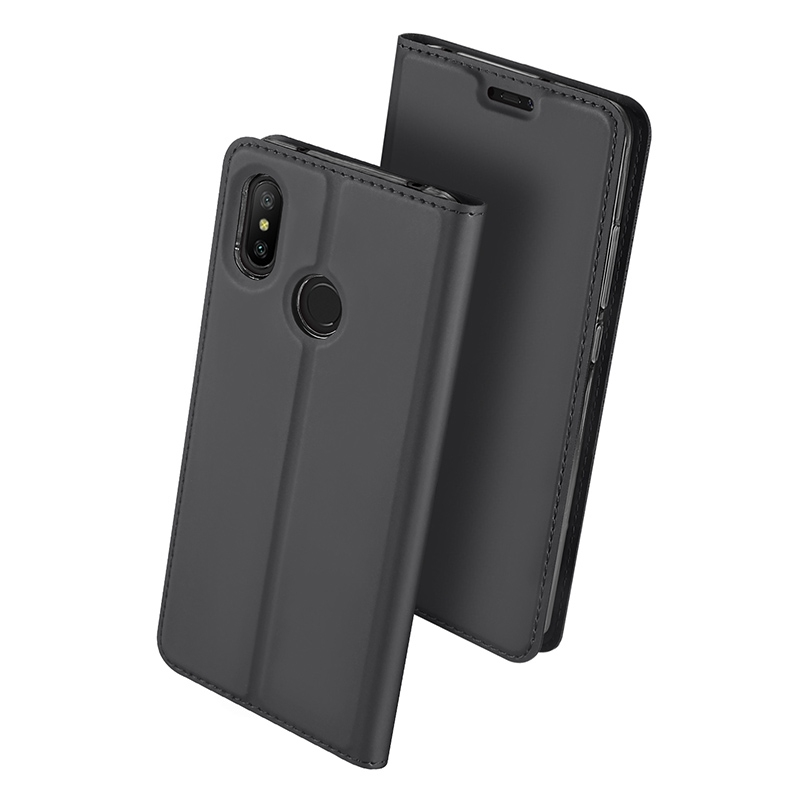 Duxducis Θήκη - Πορτοφόλι Xiaomi Mi A2 Lite / Redmi 6 Pro - Grey (13837)