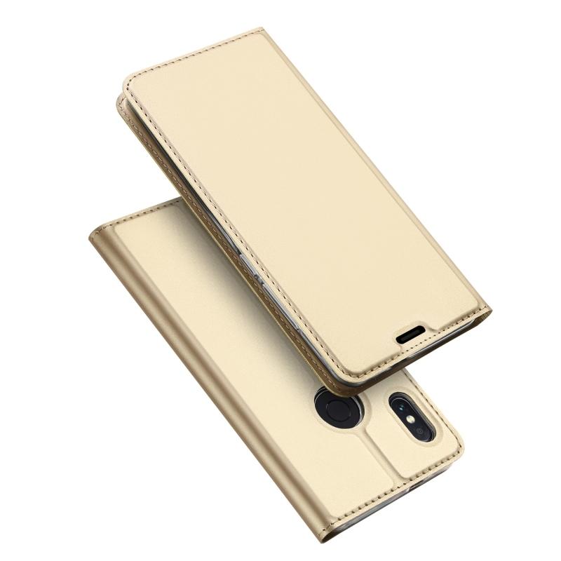 Duxducis SkinPro Flip Θήκη Xiaomi Redmi Note 5 / Redmi Note 5 Pro - Gold (13529)