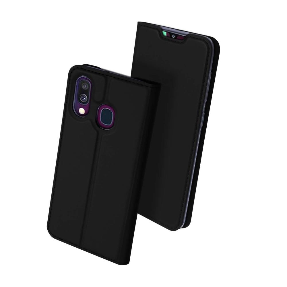 Duxducis Skin Θήκη Πορτοφόλι Samsung Galaxy A40 - Black (48653)