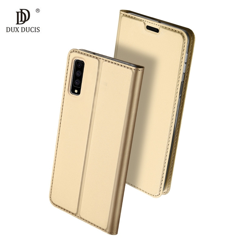 Duxducis Θήκη - Πορτοφόλι Samsung Galaxy A7 2018 - Gold (15003)