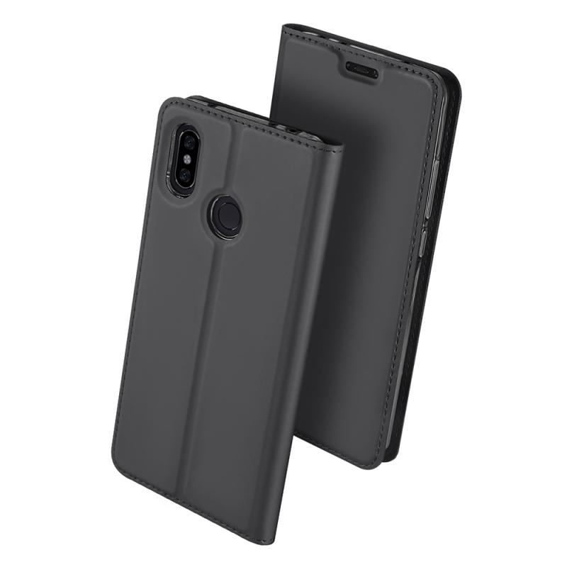 Duxducis Θήκη - Πορτοφόλι Xiaomi Redmi Note 6 Pro - Grey (14383)