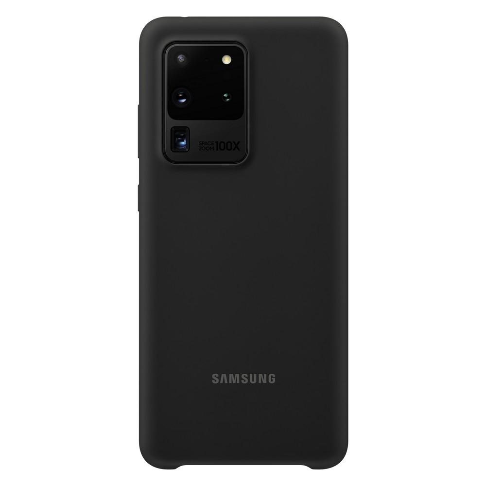 Official Samsung Θήκη Σιλικόνης Samsung Galaxy S20 Ultra - Black (EF-PG988TBEGEU)