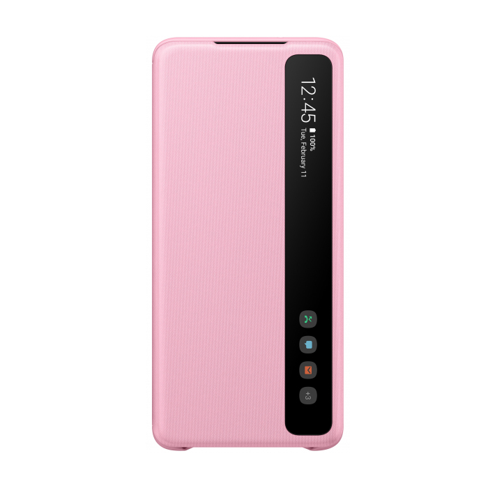 Official Samsung Clear View Cover - Θήκη Flip με Ενεργό Πορτάκι Samsung Galaxy S20 Ultra - Pink (EF-ZG988CPEGEU)