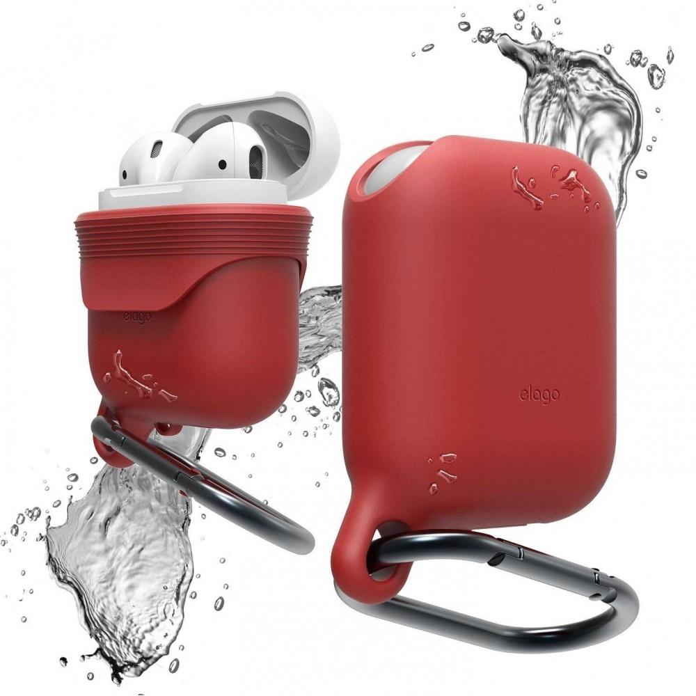 Elago Airpods Waterproof Hang Case - Αδιάβροχη Θήκη για Airpods - Red (EAPWF-RD)