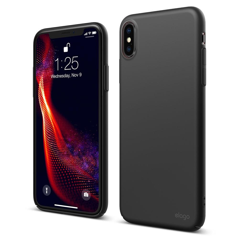 Elago Θήκη Slim Fit iPhone XS Max - 0.4mm - Black (EIP18SM-6.5-BK)