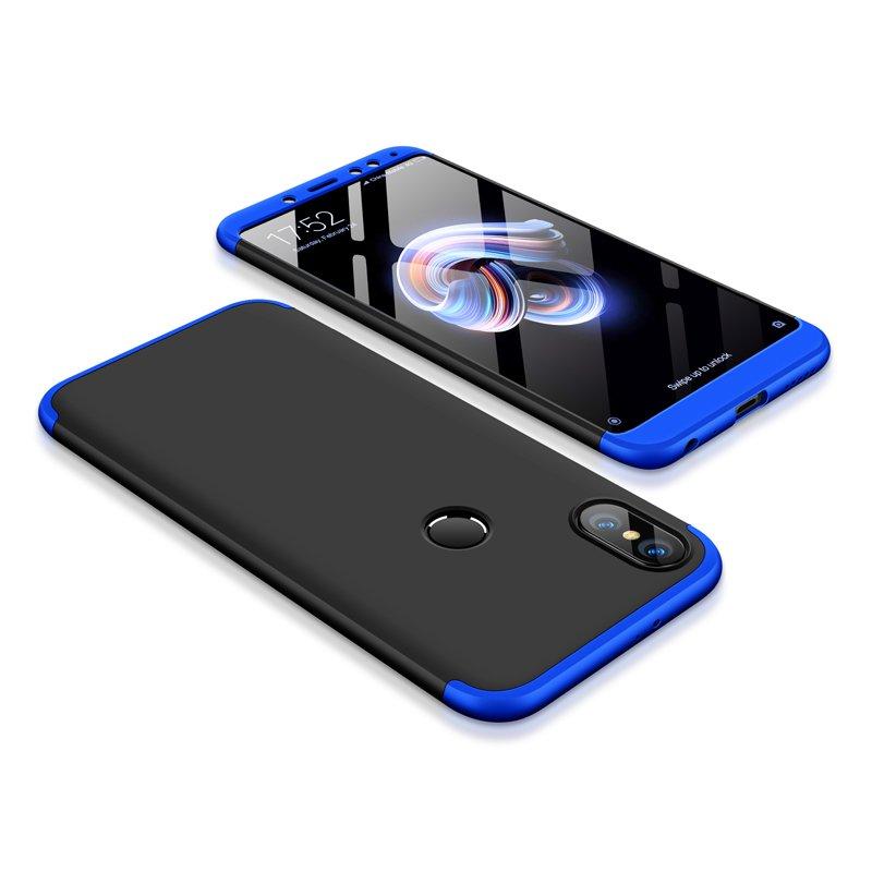 Θήκη Hybrid Full Body 360° Xiaomi Redmi Note 5 - Black/Blue (13416) - OEM