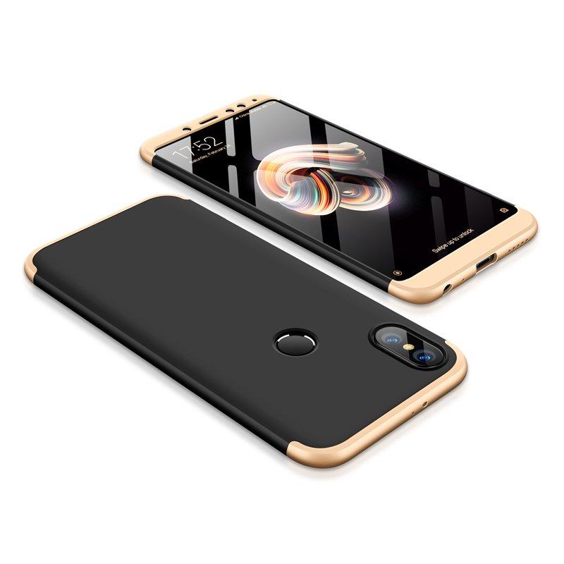 Θήκη Hybrid Full Body 360° Xiaomi Redmi Note 5 - Black/Gold (13418) - OEM
