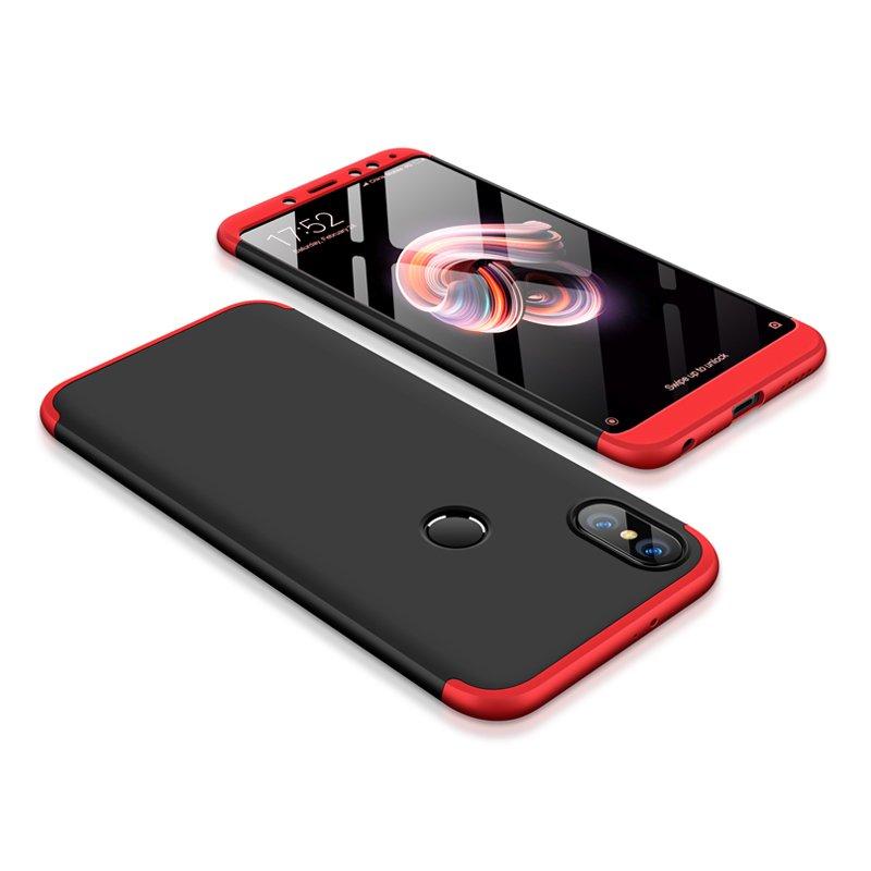Θήκη Hybrid Full Body 360° Xiaomi Redmi Note 5 - Black/Red (13419) - OEM