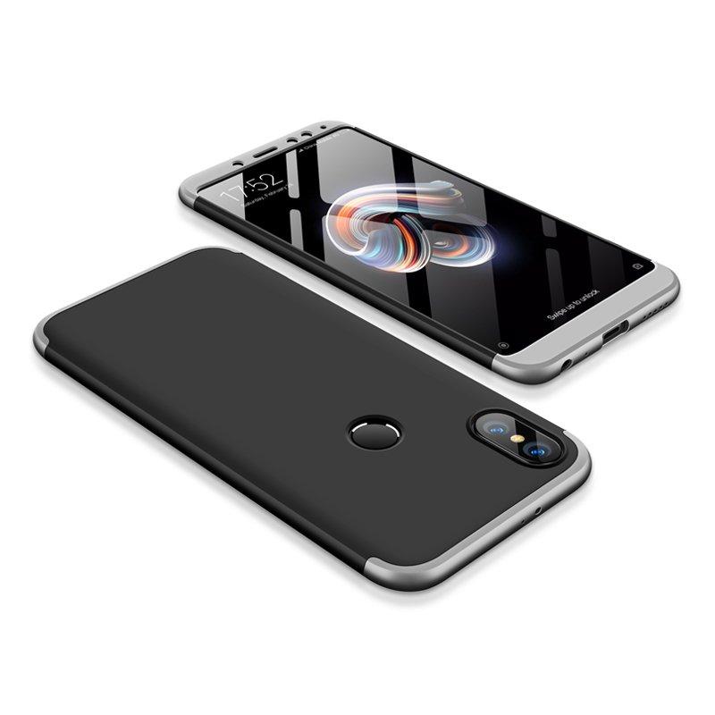 Θήκη Hybrid Full Body 360° Xiaomi Redmi Note 5 - Black/Silver (13417) - OEM