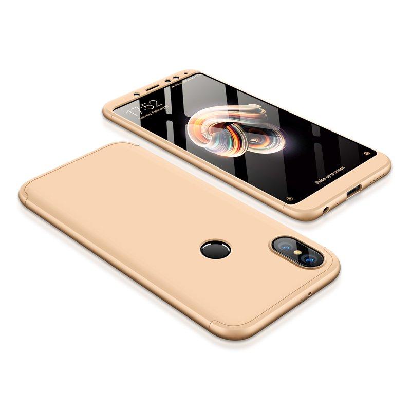 Θήκη Hybrid Full Body 360° Xiaomi Redmi Note 5 - Gold (13414) - OEM