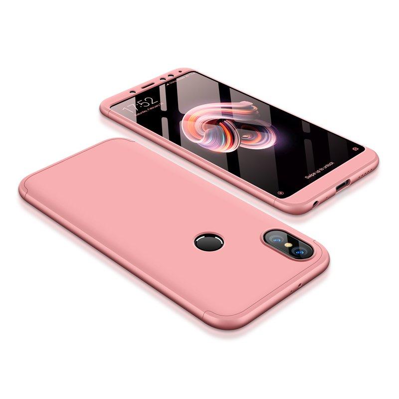 Θήκη Hybrid Full Body 360° Xiaomi Redmi Note 5 - Rose Gold (13415) - OEM