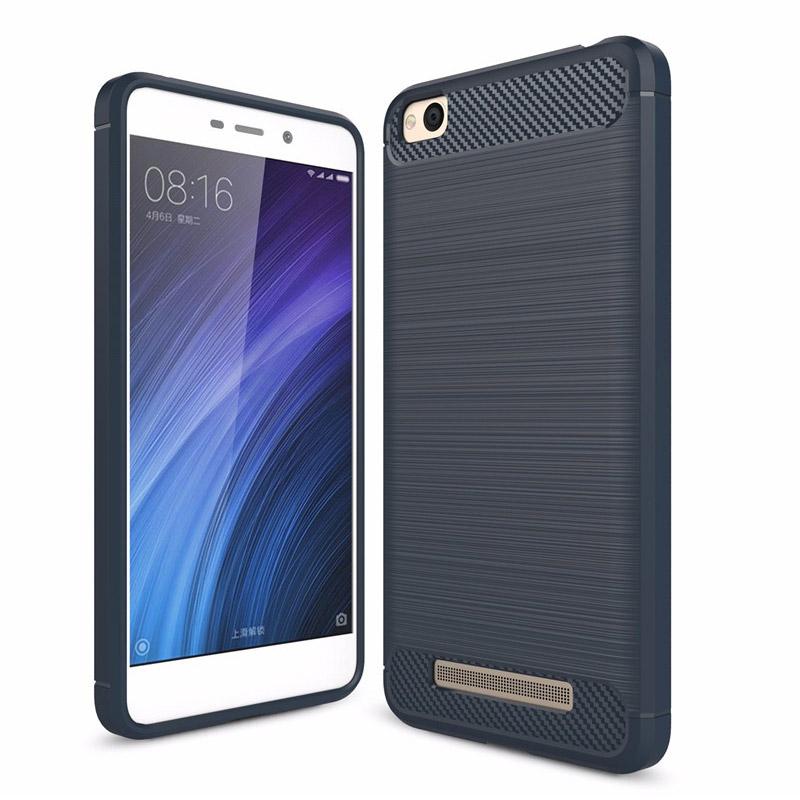 Θήκη Σιλικόνης TPU Carbon Xiaomi Redmi 4A  - Blue (12449) - OEM
