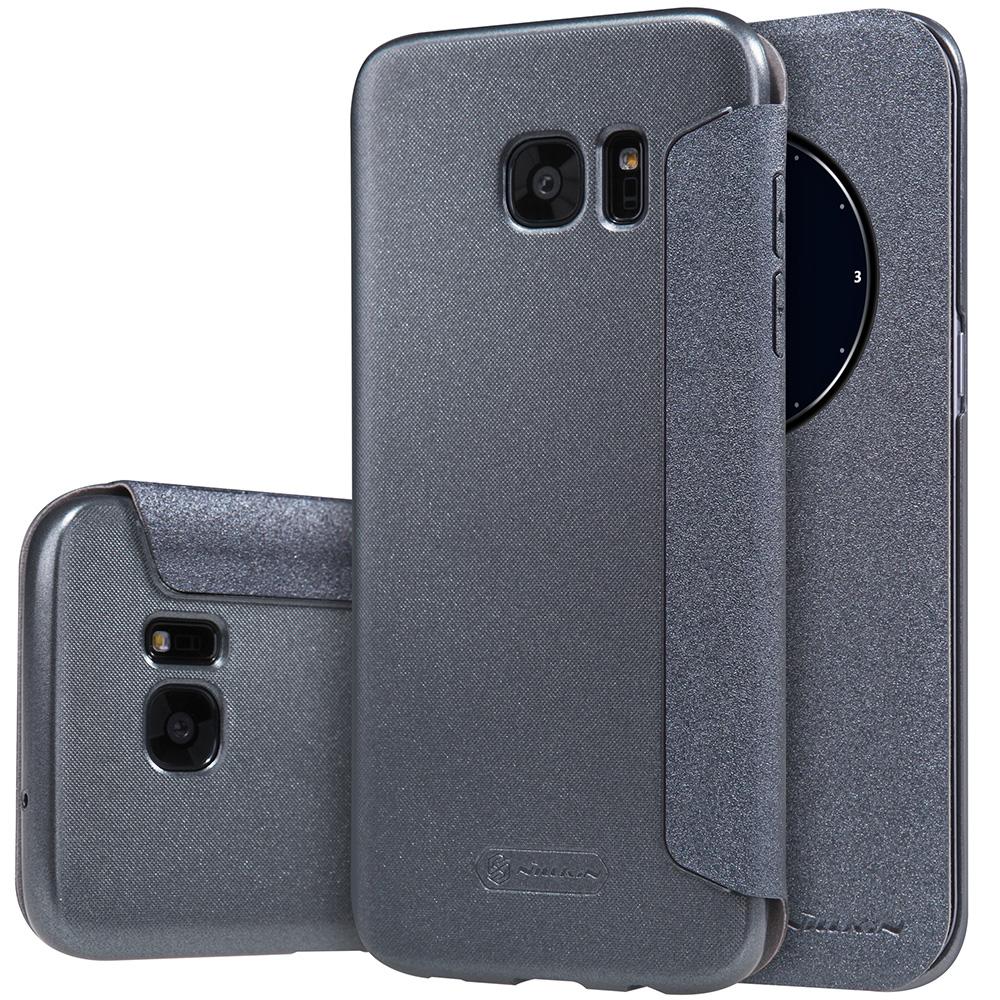 Nillkin Sparkle Θήκη Flip με Ενεργό Παράθυρο Samsung Galaxy S7 Edge - Grey (11787)