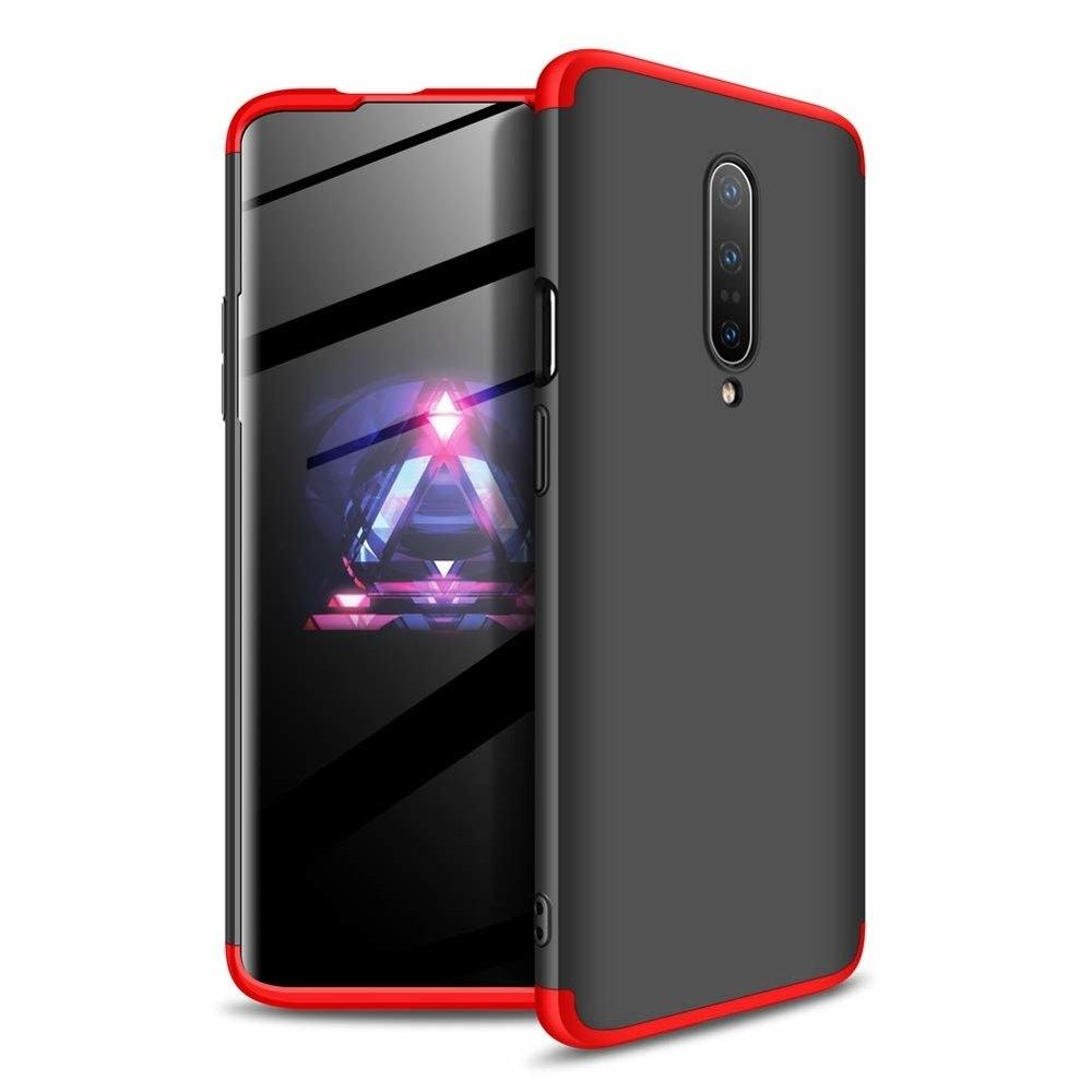 GKK Θήκη Hybrid Full Body 360° Oneplus 7 Pro - Red/Black (51227)