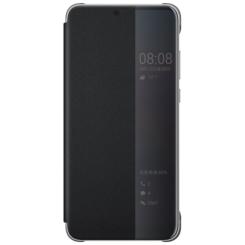 Huawei Official Smart View Flip Cover - Θήκη με Smart Window για Huawei P20 - Black (51992399)