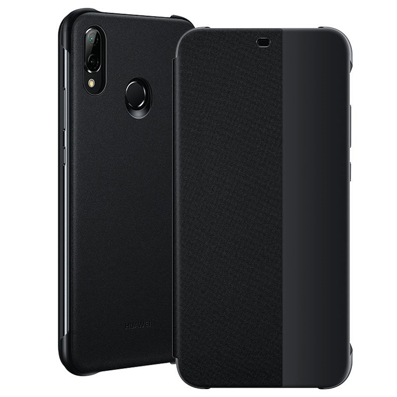 Huawei Official Smart View Flip Cover - Θήκη με Smart Window για Huawei P20 Lite - Black (51992313)