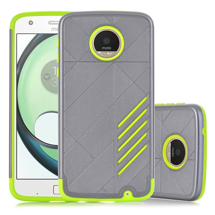 Etui Hybrid Θήκη Motorola Moto Z Play - Grey/Green (141725)