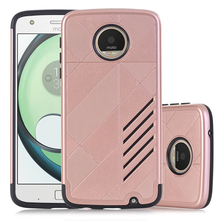 Etui Hybrid Θήκη Motorola Moto Z Play - Rose Gold (141727)
