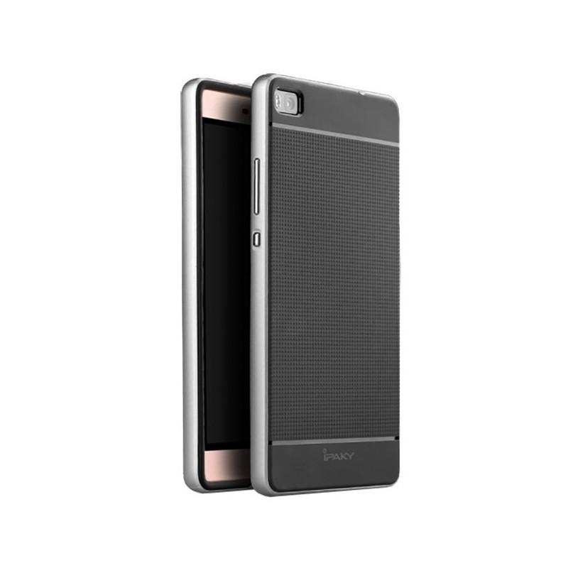 Ipaky Θήκη Premium Hybrid Huawei Ascend P8 - Black/Silver (11198)