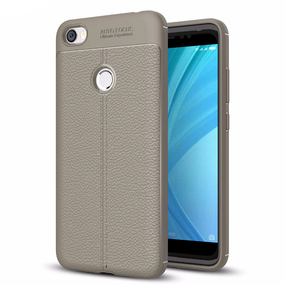 Θήκη TPU Leather Xiaomi Redmi Note 5A Prime - Grey - OEM (13412)