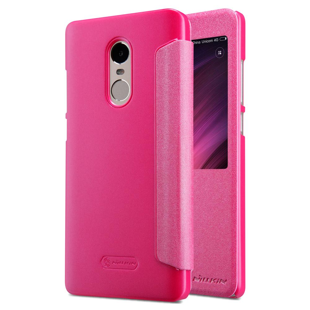 Nillkin Θήκη Sparkle View-Flip Xiaomi Redmi Note 4/Note 4Χ - Pink (13474)