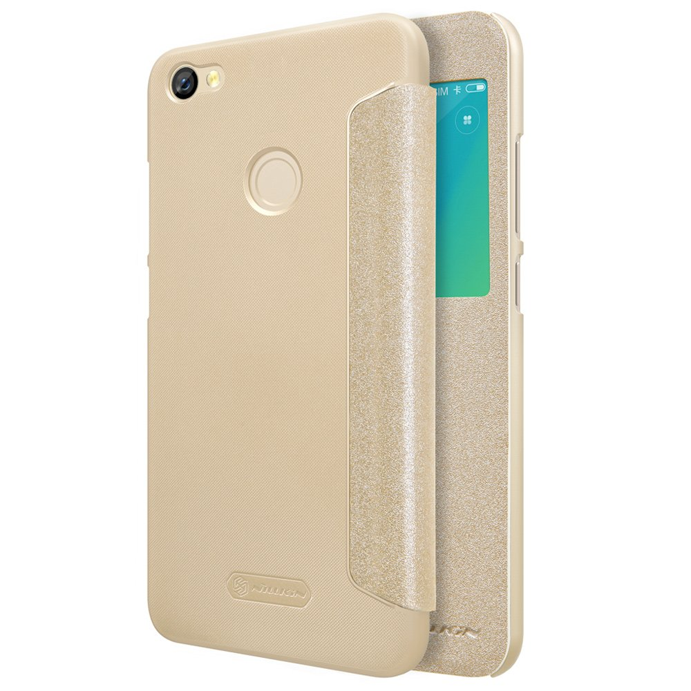 Nillkin Θήκη Sparkle View-Flip Xiaomi Redmi Note 5A Prime - Gold (13407)