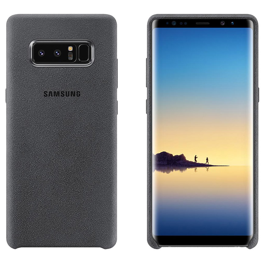 Official Alcantara Σκληρή Θήκη Samsung Galaxy Note 8 - Grey (EF-XN950AJEGUS)