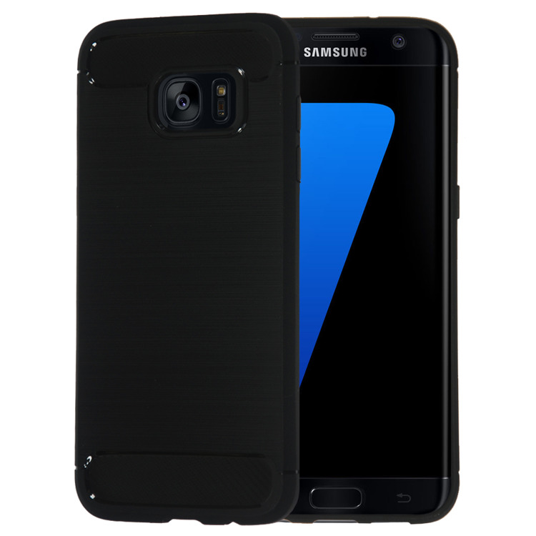 Θήκη TPU Carbon Samsung Galaxy S7 Edge - Black (10633) - OEM