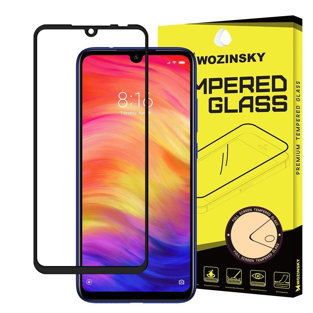 Wozinsky Tempered Glass - Fullface Αντιχαρακτικό Γυαλί Οθόνης Xiaomi Redmi 7 - Black (49287)