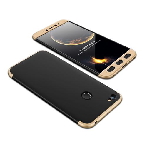 Θήκη Hybrid Full Body 360° Xiaomi Redmi Note 5A Prime - Black/Gold (13468) - OEM