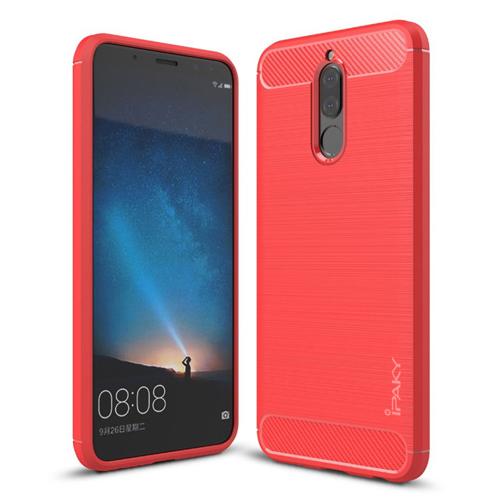 Ipaky Θήκη TPU Carbon Huawei Mate 10 Lite - Red (13223)