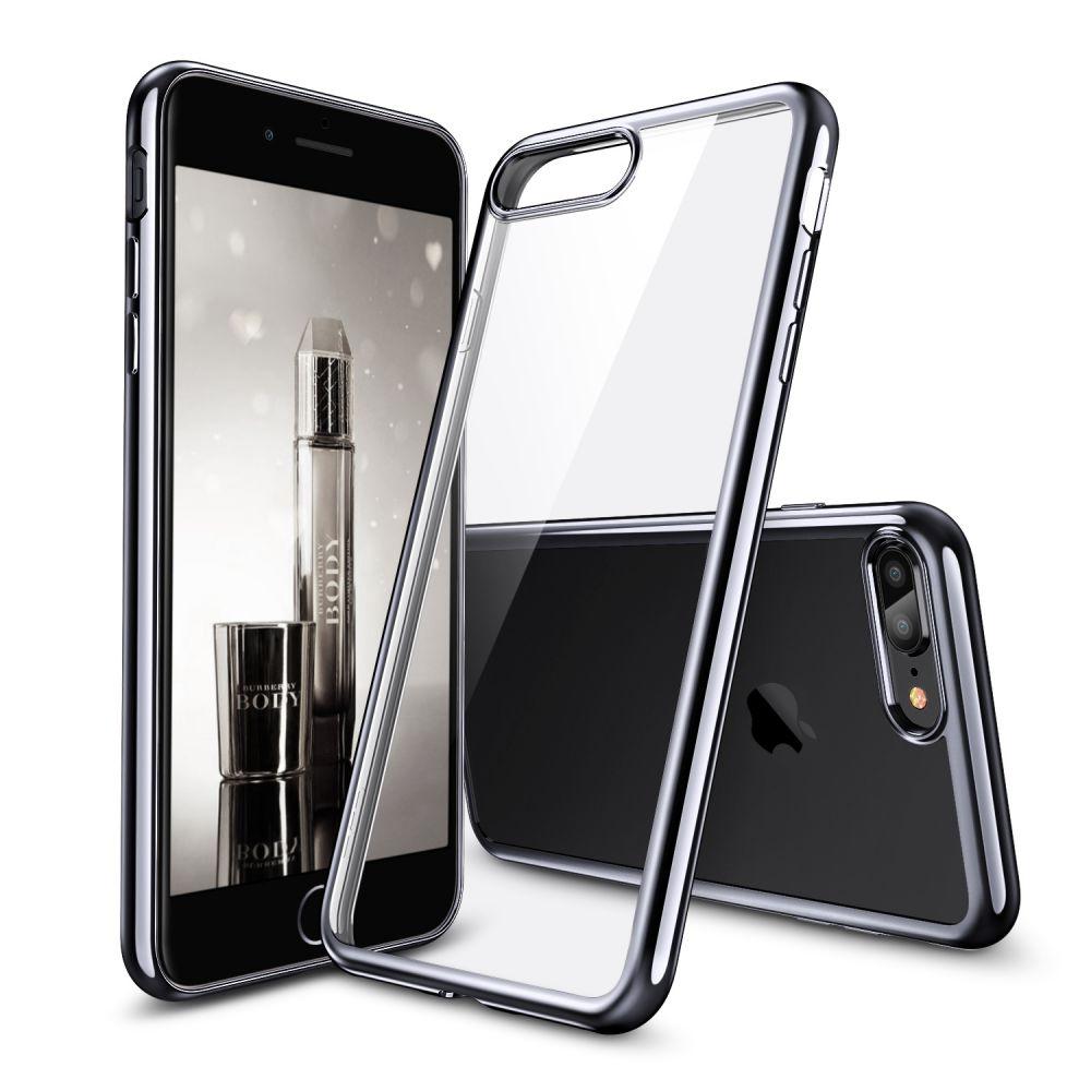 ESR Essential Twinkle Series - Διάφανη Θήκη Σιλικόνης με Bumper iPhone 8 Plus / 7 Plus - Black (14426)