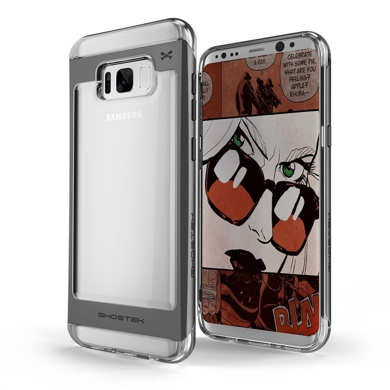 Ghostek Θήκη Cloak 2 Samsung Galaxy S8 Plus  + Screen Protector - Clear/Black (GHOCAS636)