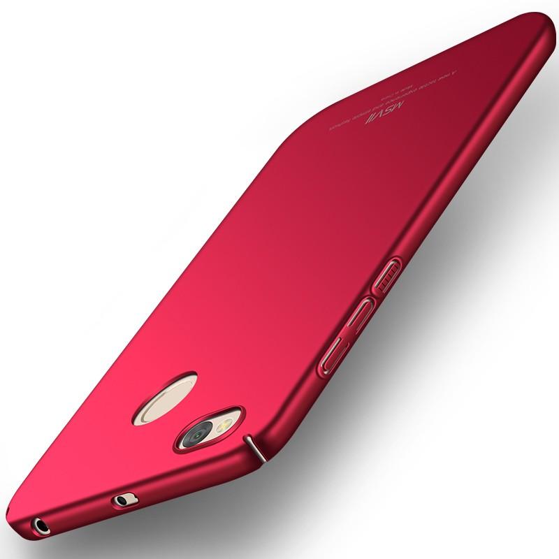 MSVII Super Slim Σκληρή Θήκη PC Xiaomi Redmi 4X - Red (MS7052RED)
