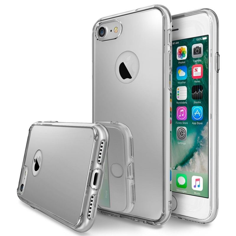 Ringke Fusion Mirror Θήκη με TPU Bumper iPhone 7 - Silver  (RGK145)