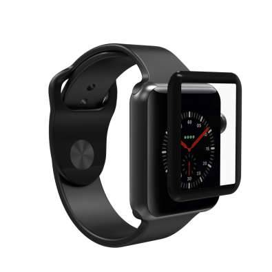 Zagg Invisible Shield glass & Curved Full Face Apple Watch Series 3 (42mm) - Black Finish (200101819)