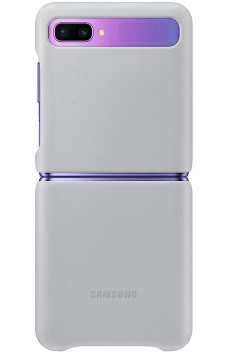 Official Samsung Δερμάτινη Θήκη Samsung Galaxy Z Flip - White (EF-VF700LWEGEU)