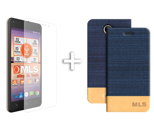 Blue Flip Θήκη MLS Fresh 4G + Tempered Glass (32.ML.500.058)