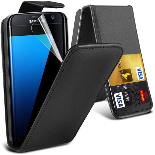 Flip Θήκη Samsung Galaxy S7 Edge - Μαύρο (9617) - OEM μόδα